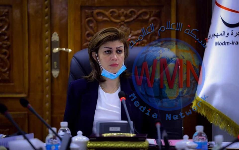 وزيرة الهجرة: بناء المدن المحررة سيسهم بالعودة الطوعية للنازحين