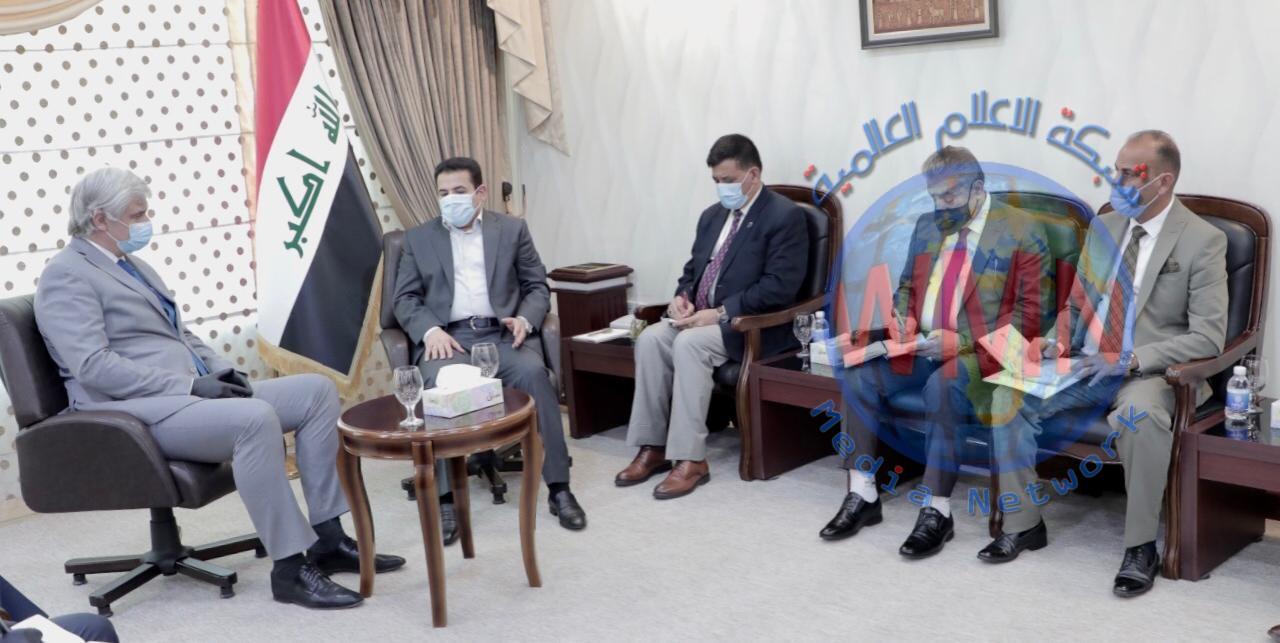 مستشار الامن الوطني قاسم الاعرجي يستقبل السفير الروسي في العراق