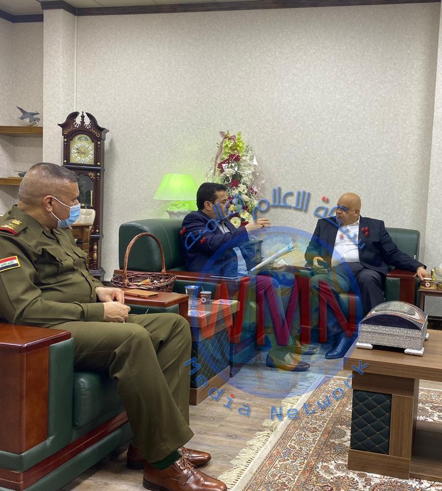 مستشار الأمن القومي قاسم الاعرجي يجتمع مع محافظ صلاح الدين في مقر قيادة العمليات المشتركة