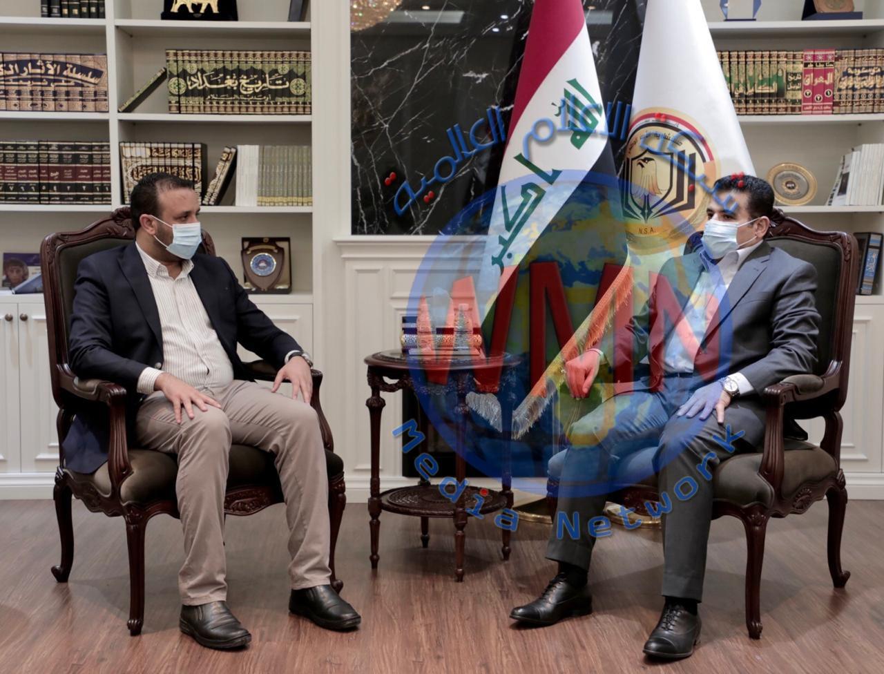 مستشار الأمن القومي قاسم الأعرجي يستقبل رئيس أمناء شبكة الإعلام العراقي