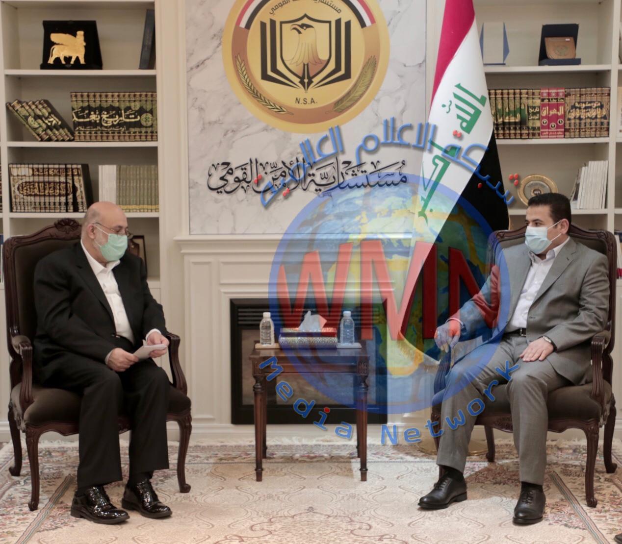 مستشار الأمن القومي  قاسم الأعرجي يستقبل الوكيل الأقدم لوزارة الدفاع الإيرانية والوفد المرافق له