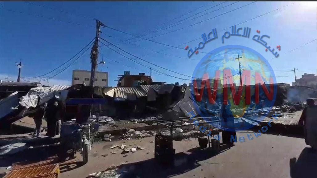 بالصور.. بلدية كربلاء تزيل سوق حي العامل الشعبي الكبير