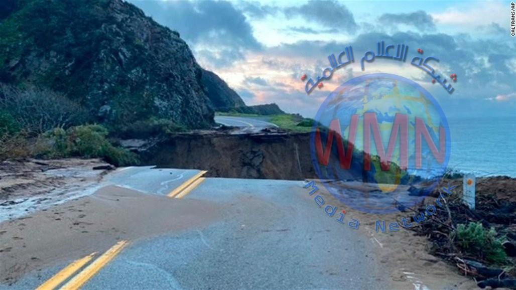 صور كارثية: انهيار طريق سريع في كاليفورنيا… والسبب؟