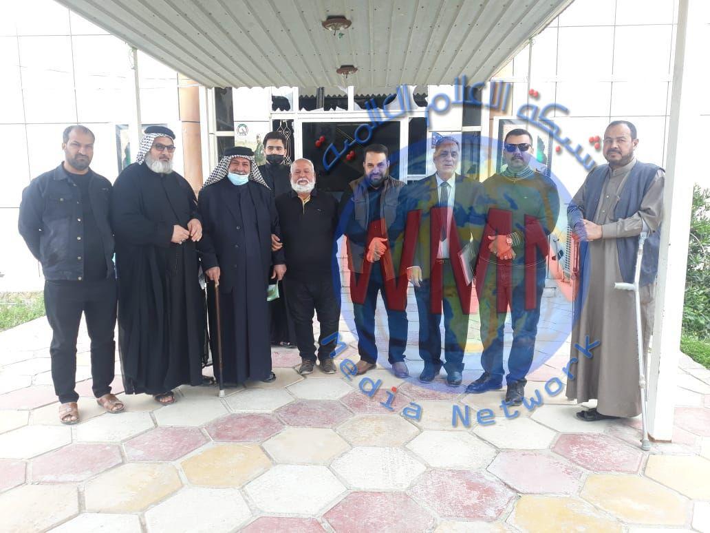 الحشد الشعبي يغيث احدى مناطق الناصرية خدميا