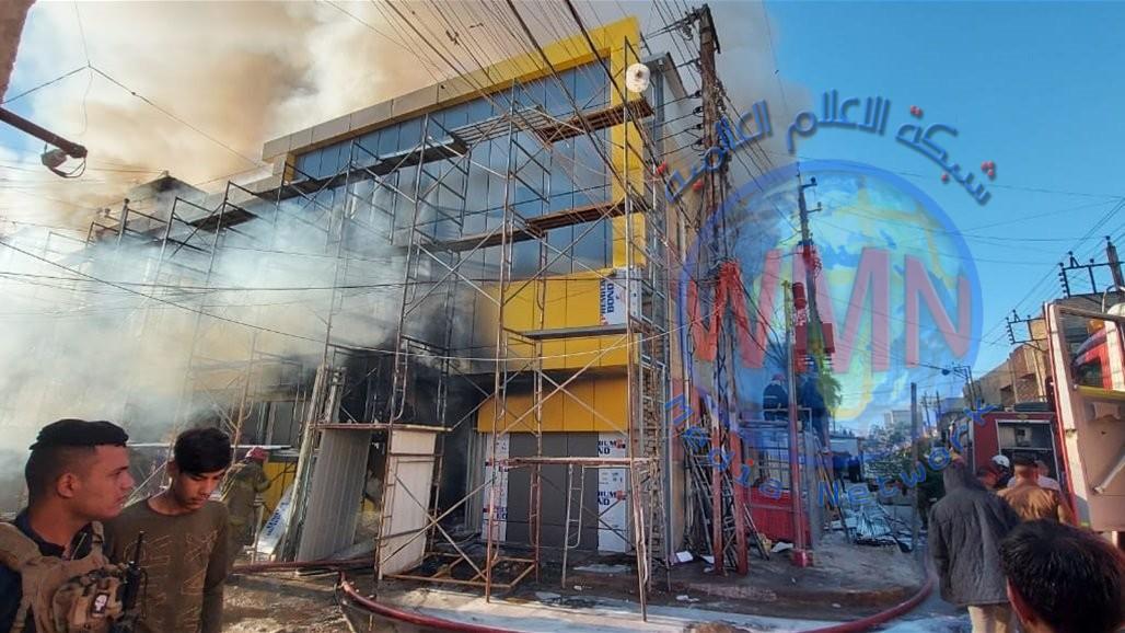 الدفاع المدني يخمد حريقاً بمجمع تجاري في الشرطة الرابعة