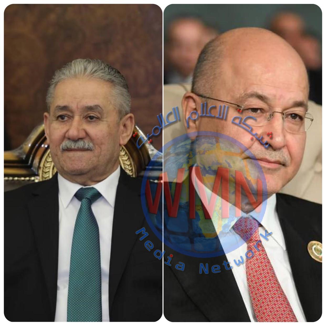 رئيس الجمهورية برهم صالح  يطمئن على صحة الأسدي