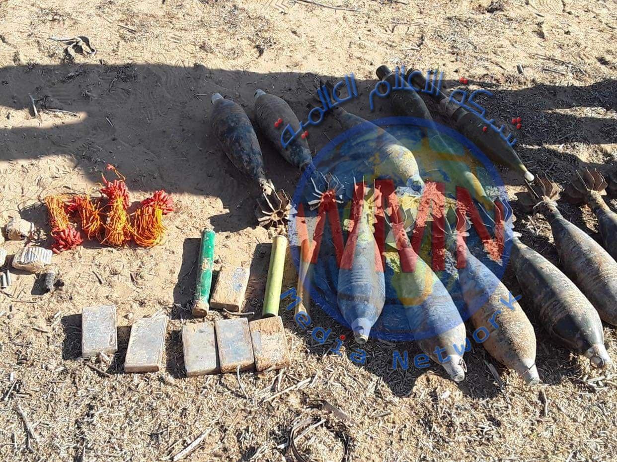 قوة من اللواء 53 بالحشد تعثر على كدس للعتاد والمتفجرات في جزيرة نينوى