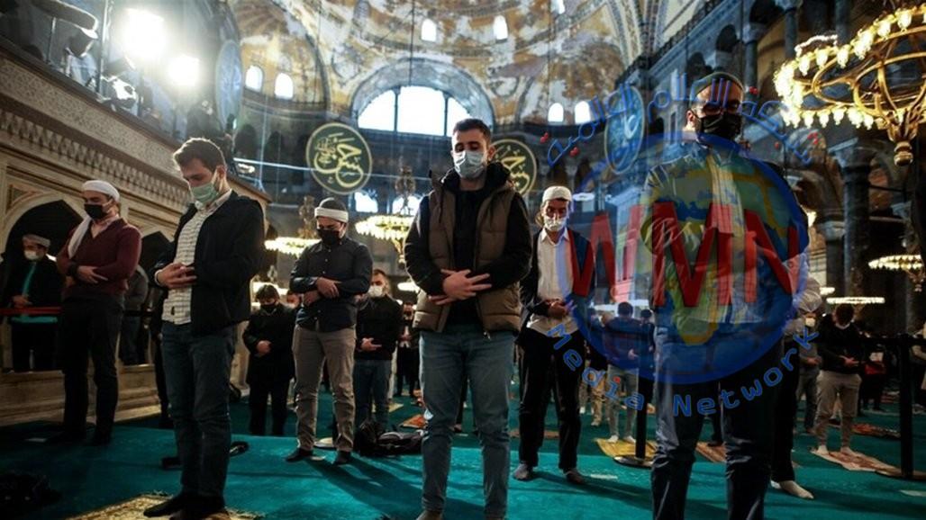 صلاة عيد الفطر من مسجد آيا صوفيا لأول مرة منذ 87 عاما