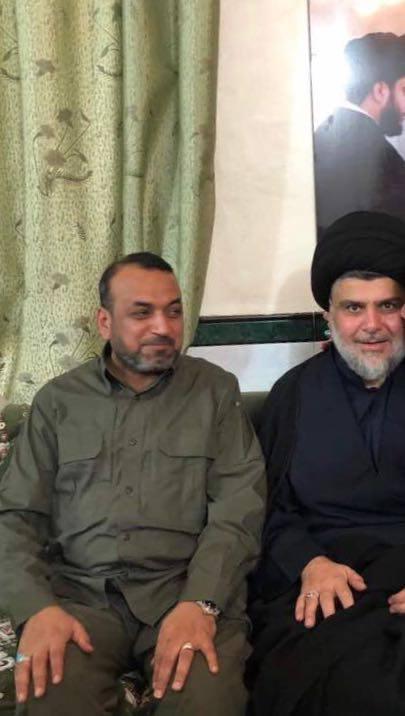احمد الاسدي يلتقي السيد الصدر في الحنانة