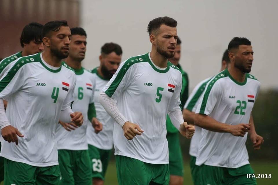 استعدادات المنتخب الوطني العراقي تحضيرا لمواجهة الاخضر السعودي