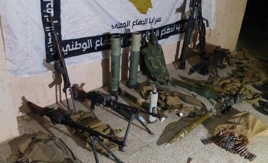 الحشد الشعبي يعثر على اعتدة وأسلحة واحزمة ناسفة بعملية امنية في جزيرة اعالي الفرات
