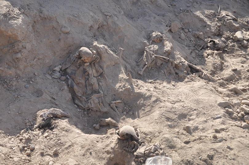 الحشد يعثر على مقبرة تضم رفات ستة اشخاص بالحويجة