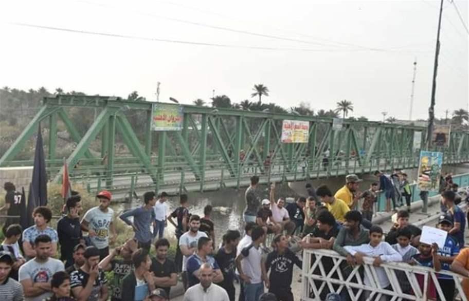 استمرار اعتصامات أهالي جسر ديالى القديم لليوم الثالث على التوالي