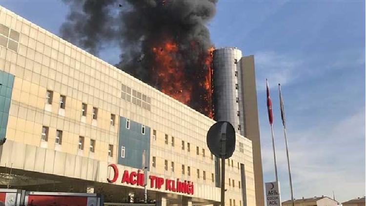 حريق ضخم في مستشفى بإسطنبول