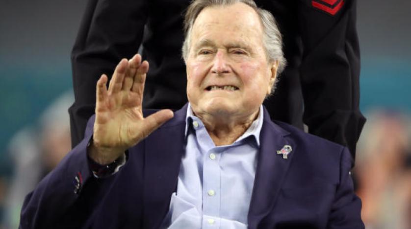 بوش الأب يغادر المستشفى