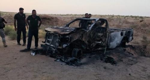 مقتل وإصابة دواعش بانفجار عبوة ناسفة أثناء زرعها شمال العظيم
