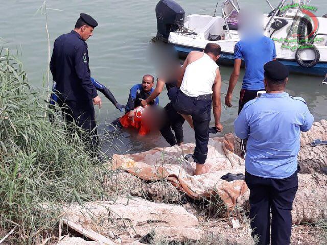 انتشال جثة شاب رمى بنفسه في نهر الفرات