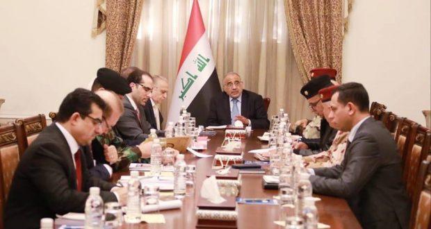 """عبد المهدي يؤكد أهمية استمرار المتابعة الميدانية والتنسيق لردع محاولات لبقايا """"داعش"""""""