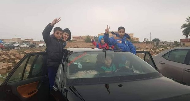 قاطع عمليات الحشد الشعبي في صلاح الدين يعلن عودة 50 عائلة نازحة الى الصينية