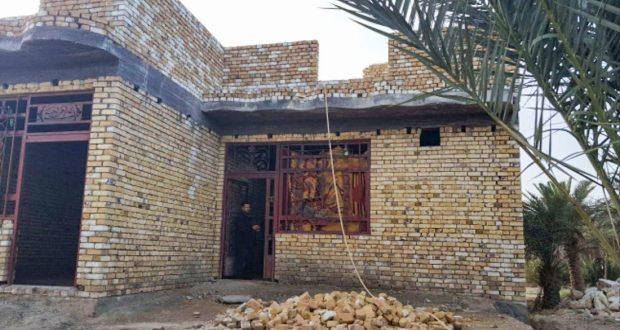 العتبة الحسينية تشيد دارا لعائلة شهيد بالحشد تسكن منزلا طينيا في ذي قار