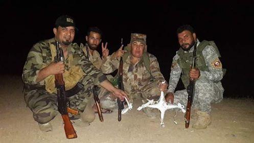 """من اصل ثلاث بينها قاصفة الحشد يسقط طائرة مسيرة لـ""""داعش"""" غرب الأنبار"""