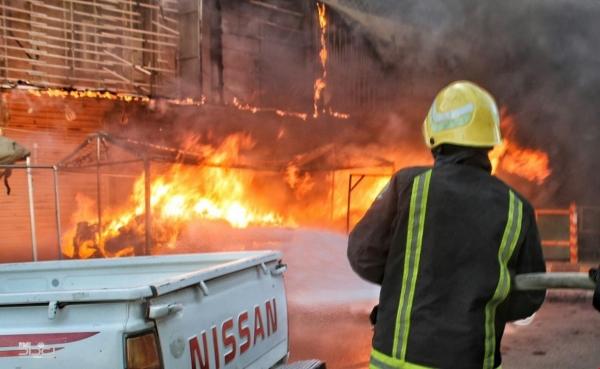 حريق في سوق الشورجة