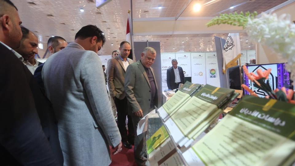 هادي العامري يزور معرض بغداد الدولي للكتاب بنسخته الجديدة