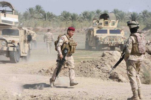 بعملية اشترك فيها الحشد مقتل خمسة انتحاريين شمال غرب الموصل