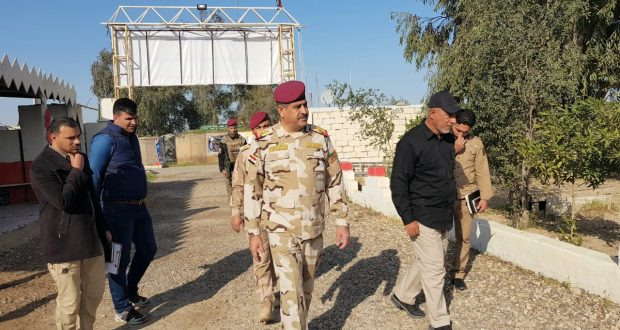قائد الفرقة العاشرة في الجيش يزور مقر قيادة عمليات قاطع شرق الأنبار للحشد لبحث التعاون المشترك