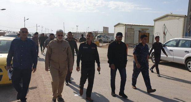الحاج ابو مهدي المهندس :يتفقد منفذ الشلامجة الحدودي لمتابعة آخر تطورات أزمة السيول(صور)