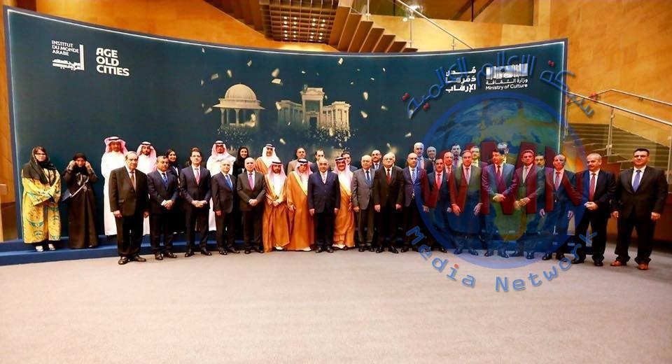 وزير التخطيط العراقي  يحضر افتتاح معرض ( مدن دمرها الارهاب ) في المتحف الوطني السعودي