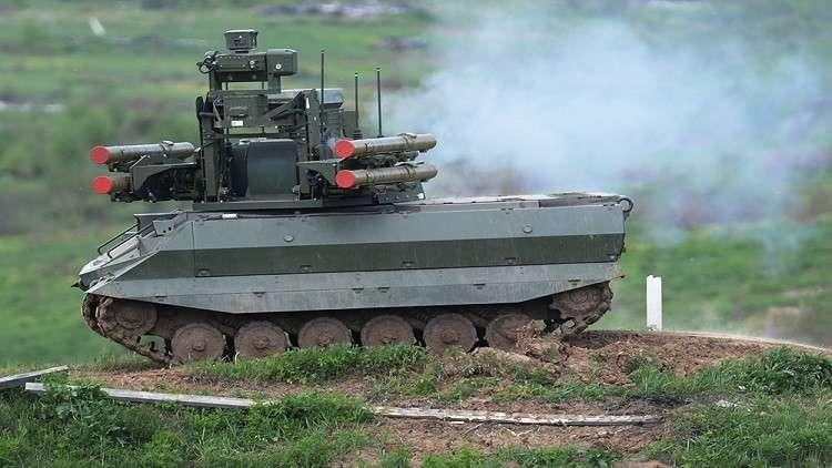 تغلب مصممو روبوت أوران9 القتالي الروسي على بعض السلبيات التي رصدها الخبراء فيه أثناء استخدامه في سوريا