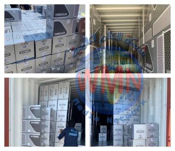الجمارك: أحباط تهريب كمية كبيرة من السكائر في (١٠) حاويات في ميناء ام قصر الشمالي