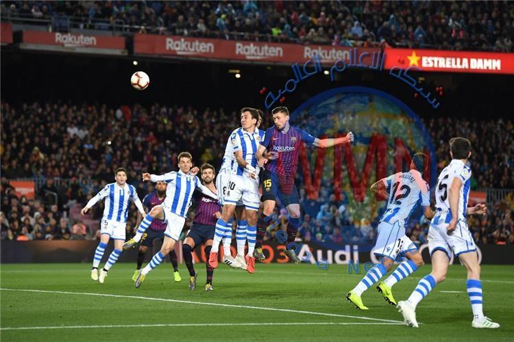 برشلونة يهزم سوسيداد ويخطو خطوة نحو حسم لقب الليجا