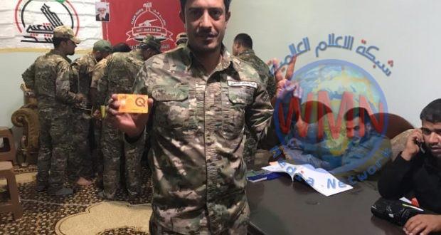 """مالية الحشد الشعبي تباشر بتوزيع بطاقة """"كي كارد"""" لمنتسبي اللواء 33"""