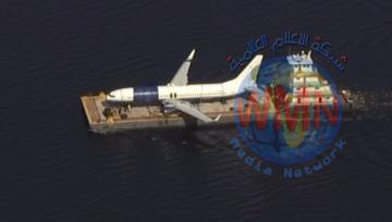 نقل طائرة أمريكية انزلقت إلى نهر في فلوريدا أثناء هبوطها إلى مكان آمن