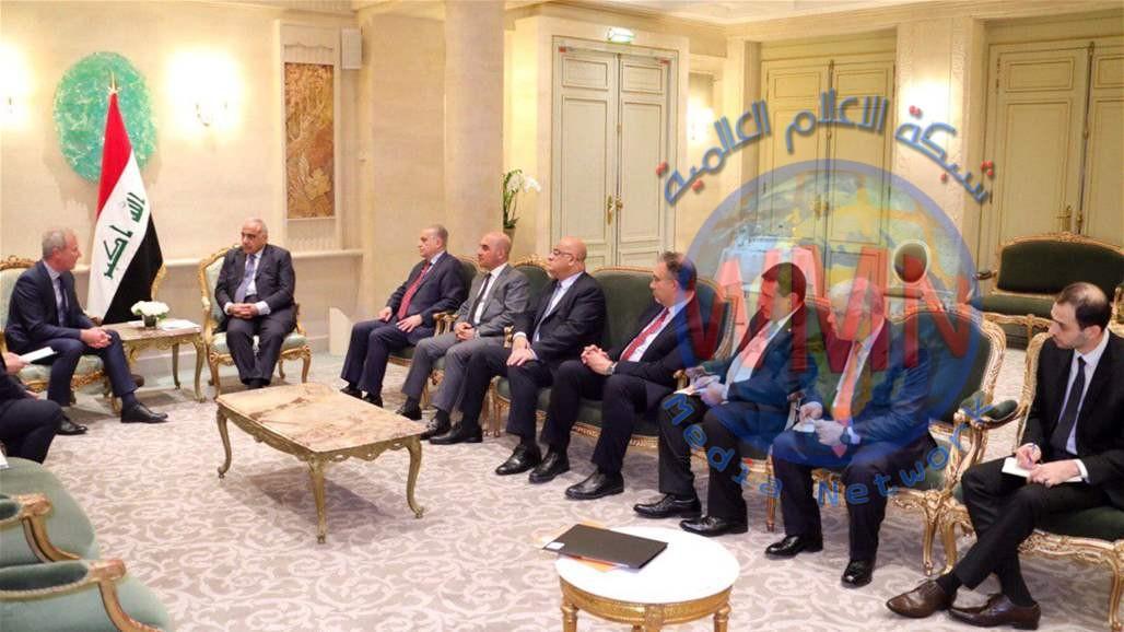 عادل عبد المهدي: الحكومة مستعدة لتوفير متطلبات العمل للشركات الفرنسية