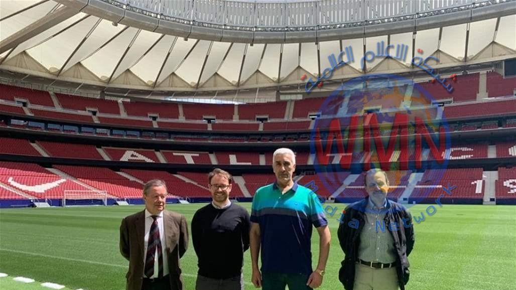"""وزير الشباب والرياضة يزور ملعب """"واندا ميرتو بوليتانو"""" في مدريد والذي سيحتضن نهائي دوري أبطال اوروبا"""