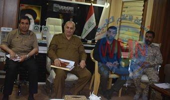 اجتماع أمني في مقر عمليات صلاح الدين للحشد الشعبي لمناقشة التنسيق المشترك