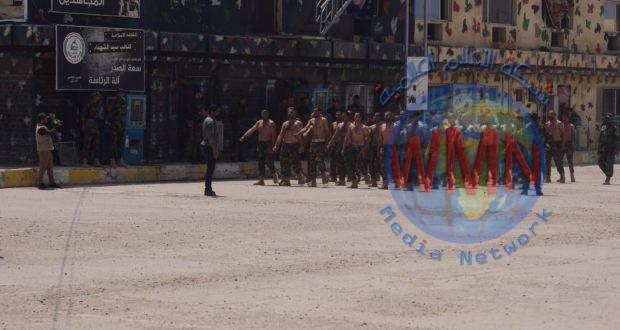 """اللواء 14 بالحشد الشعبي ينظم دورة لمقاتليه """"بمعسكر الامام الحسين"""""""