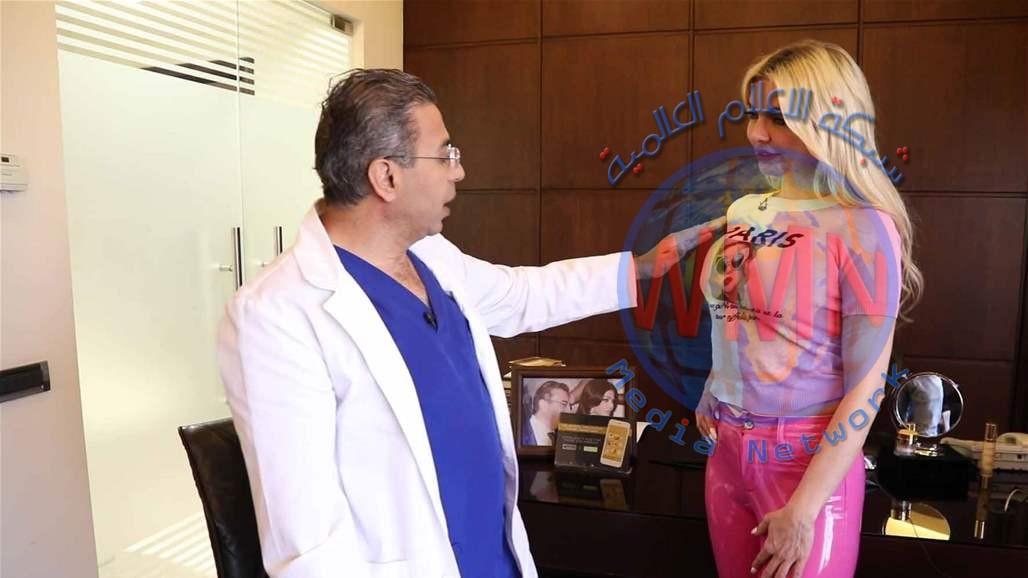 ميريام كلينك في زيارة الدكتور نادر صعب لتعديل عملية الصدر