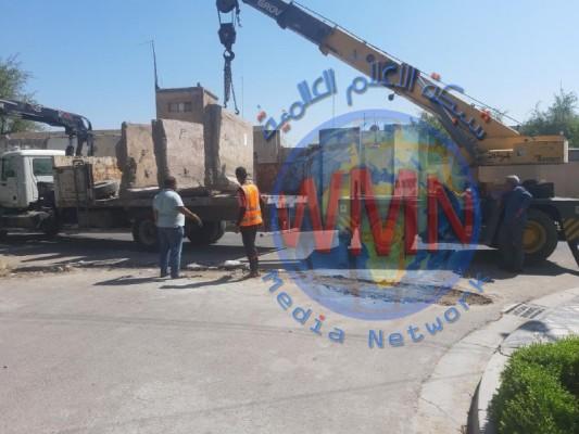 إعادة فتح ثلاثة أزقة مغلقة شرقي بغداد