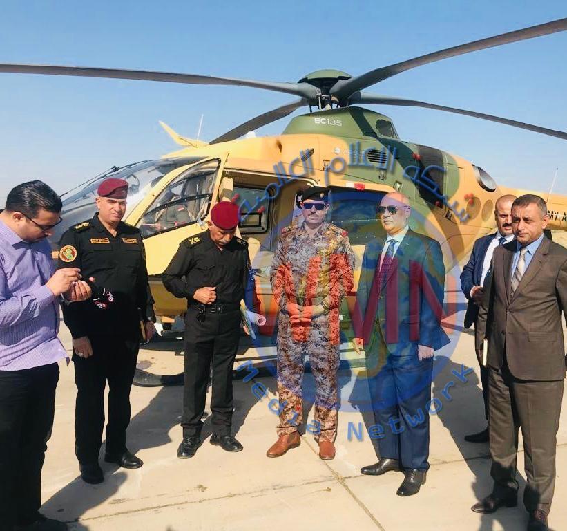 سكرتير رئيس الوزراء محمد البياتي يجري استطلاعا جوياََ مع وزير النقل لمداخل مطار بغداد الدولي