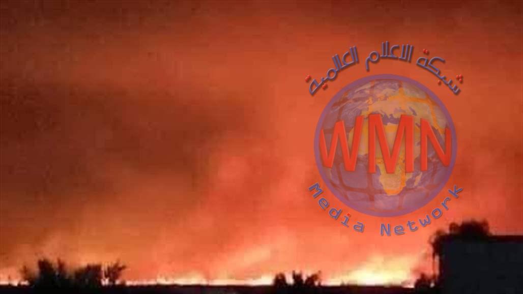 حريق في مستودعين للأسلحة والذخائر لقوات الزيرفاني في اربيل