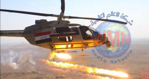 طيران الجيش يعالج عجلتين مفخختين حاولتا إعاقة تقدم قطعات الحشد في الجزيرة