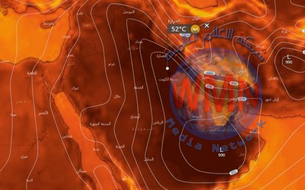 موجة حارة مرتقبة ونشاط قوي للرياح في العراق
