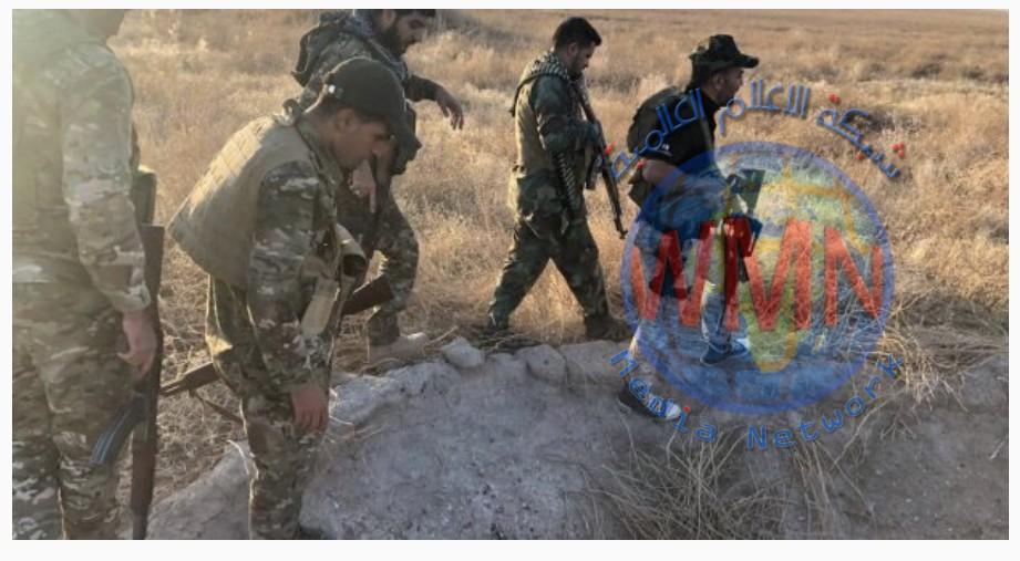 قوة من اللواء 30 بالحشد تدمر نفقين لداعش جنوب الموصل