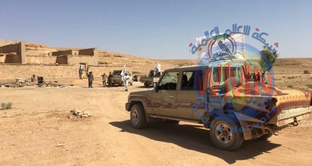 قطعات اللواء 19 في الحشد تعثر على مضافة لداعش في صحراء جنوب غرب عكاشات
