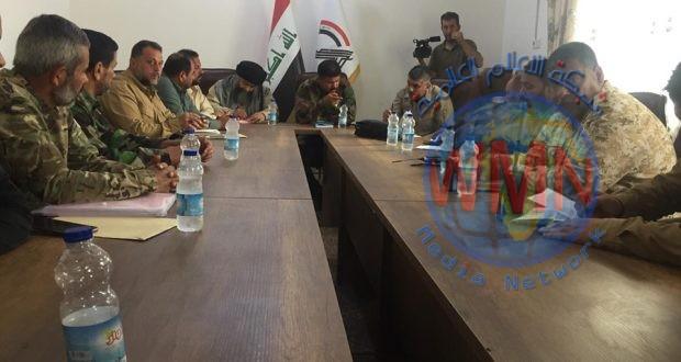 امراء ألوية الحشد الشعبي والمديريات التي شاركت بتنفيذ عمليات إرادة النصر الرابعة يعقدون اجتماعا لبحث نتائجها