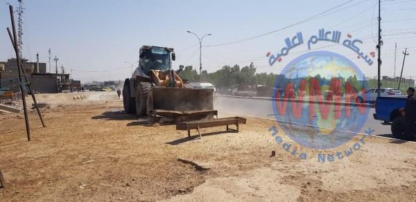إزالة حظائر مواشي وأكشاك متجاوزة شرق بغداد